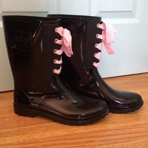 Red Valentino Black Rain Boots, Size 39
